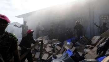 Guinée: incendie dans un bâtiment abritant du matériel électoral